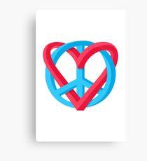 Peace + Love Canvas Print