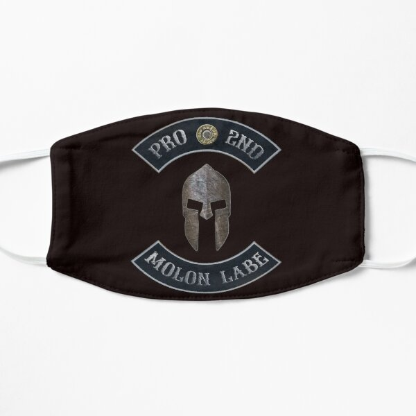 Pro 2nd Amendment, Molon Labe in Rockers with Spartan Helmet Mask