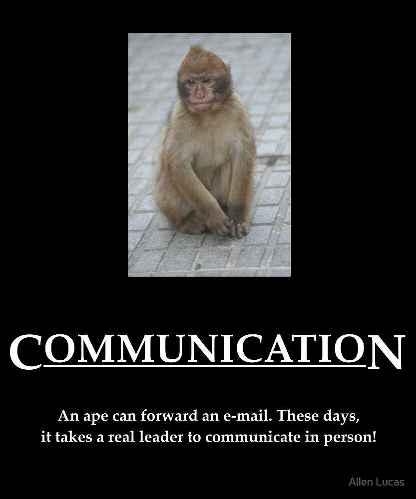 Communication Poster by Allen Lucas