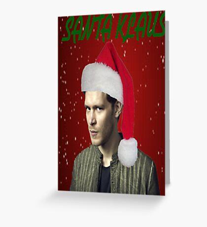 The Vampire Diaries - Santa Klaus Christmas Card Greeting Card