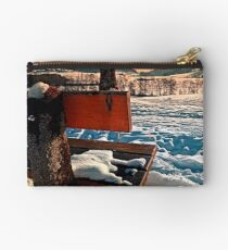 View into winter scenery Studio Pouch