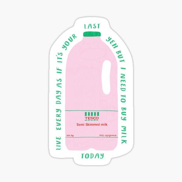 Milk Bottle   Sticker
