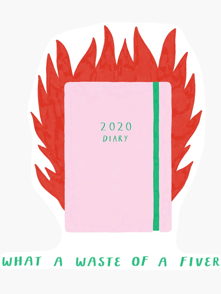 2020 Diary on Fire    by AP-Illustration