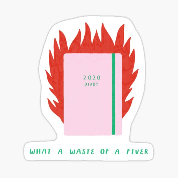 2020 Diary on Fire    Sticker