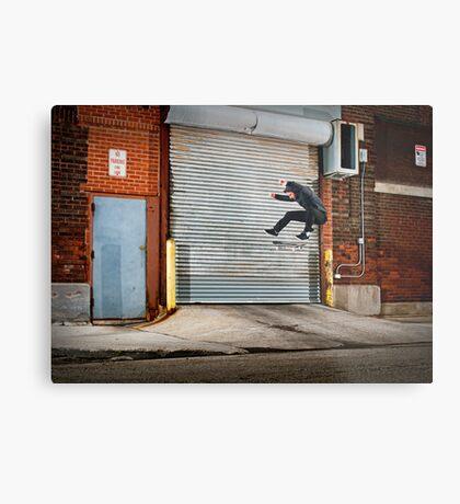 Marty Murawski - Frontside Flip - Chicago - Photo Bart Jones Metal Print