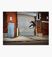 Marty Murawski - Frontside Flip - Chicago - Photo Bart Jones Photographic Print