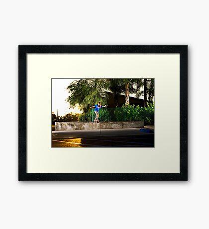 Neen Williams - Backside Tailslide - Santa Ana, CA - Photo Bart Jones Framed Print