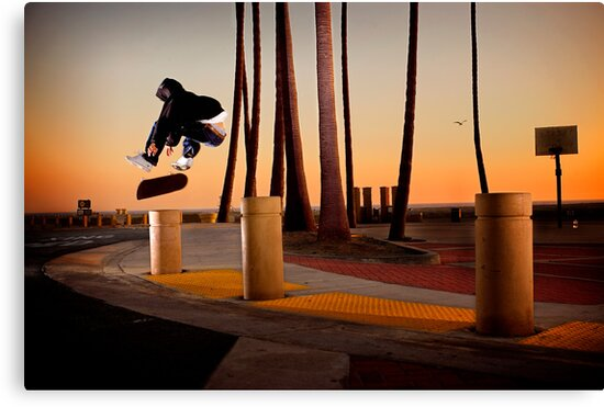 Pat Pasquale - Frontside Heelflip - Huntington Beach, CA - Photo Bart Jones by Reggie Destin Photo Benefit Page