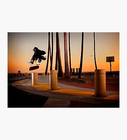 Pat Pasquale - Frontside Heelflip - Huntington Beach, CA - Photo Bart Jones Photographic Print