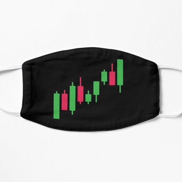 Gráficos de Forex y Stock Market Trader Mascarilla plana