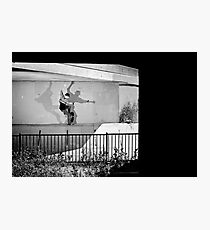 Patrick Melcher - Bluntslide to Fakie - Sacramento - Photo Bart Jones Photographic Print
