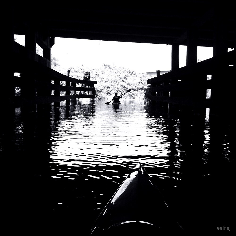 kayaks in contrast by eelnej