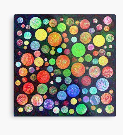 #DeepDream Color Squares Circles Visual Areas 5x5K v1448464170 Metal Print