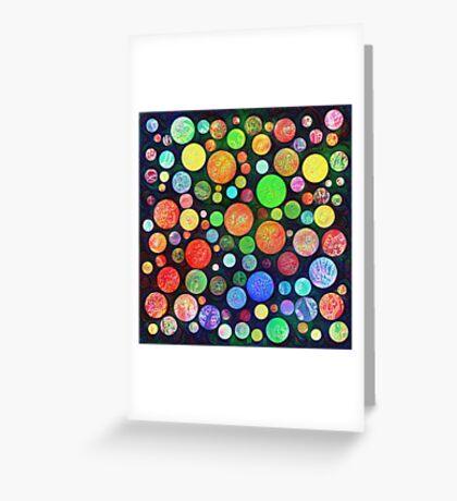 #DeepDream Color Squares Circles Visual Areas 5x5K v1448464170 Greeting Card