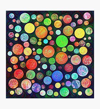 #DeepDream Color Squares Circles Visual Areas 5x5K v1448464170 Photographic Print