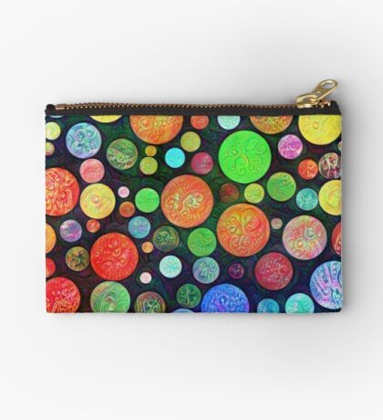 #DeepDream Color Squares Circles Visual Areas 5x5K v1448464170 Zipper Pouch