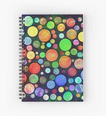 #DeepDream Color Squares Circles Visual Areas 5x5K v1448464170 Spiral Notebook
