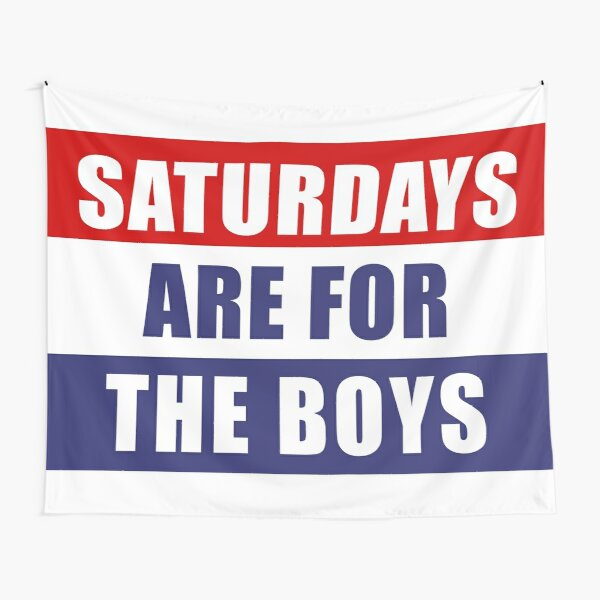 Saturdays Are For The Boys Girls Home Flag Banner Gift Christmas Decor Ornaments