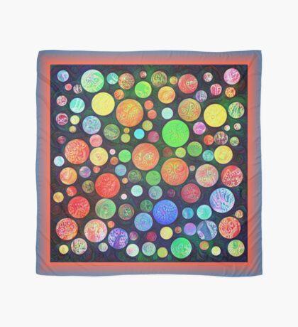 #DeepDream Color Squares Circles Visual Areas 5x5K v1448464170 Scarf
