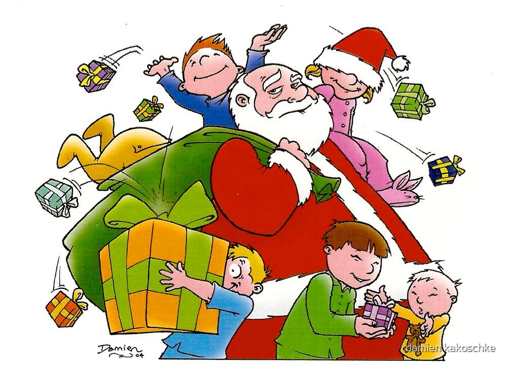 Santa - children are an occupational hazard by damien kakoschke