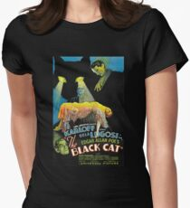 Black Cat - Poe Karloff and Lugosi Women's Fitted T-Shirt