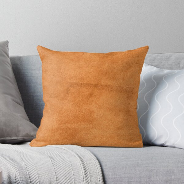 Brown leather texture closeup Throw Pillow