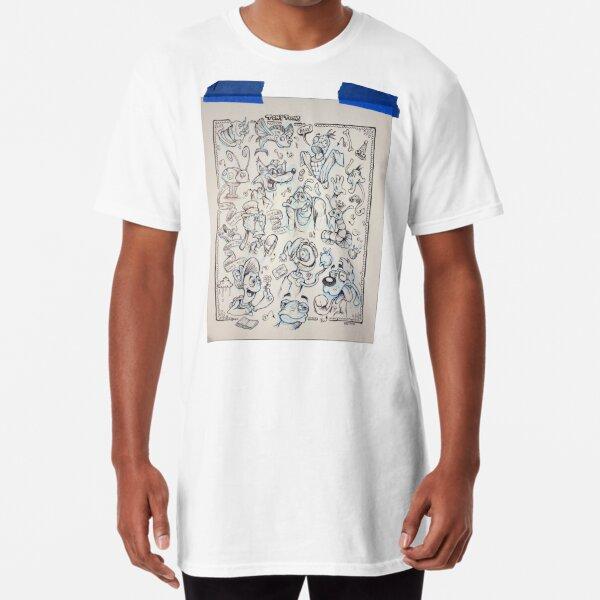 TonyToons Drawing Board Sketch Design Long T-Shirt