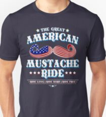 The Great American Mustache Ride Unisex T-Shirt