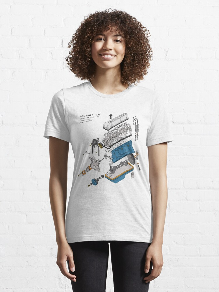 Alternate view of Nissan L6 Exploded View Essential T-Shirt