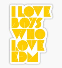I Love Boys Who Love EDM (Electronic Dance Music) [Mustard] Sticker