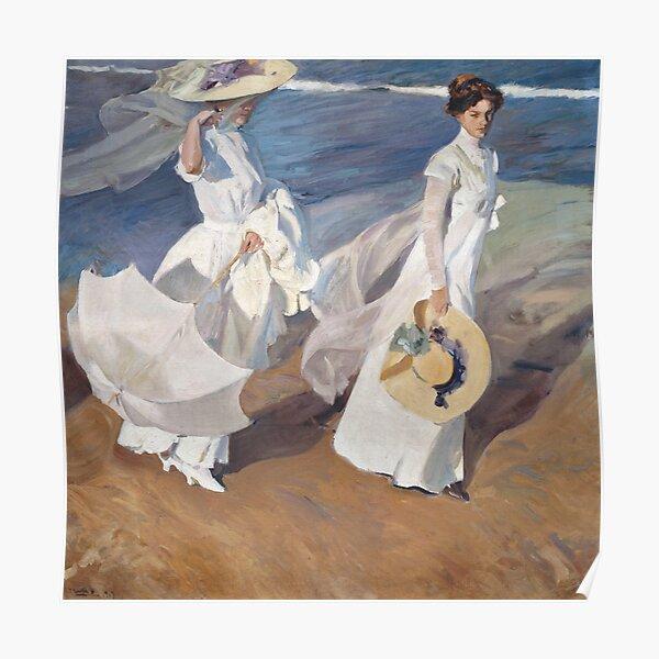 Joaquín Sorolla - Strolling along the Seashore Poster