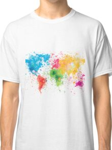 world map painting Classic T-Shirt