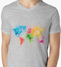world map painting T-Shirt