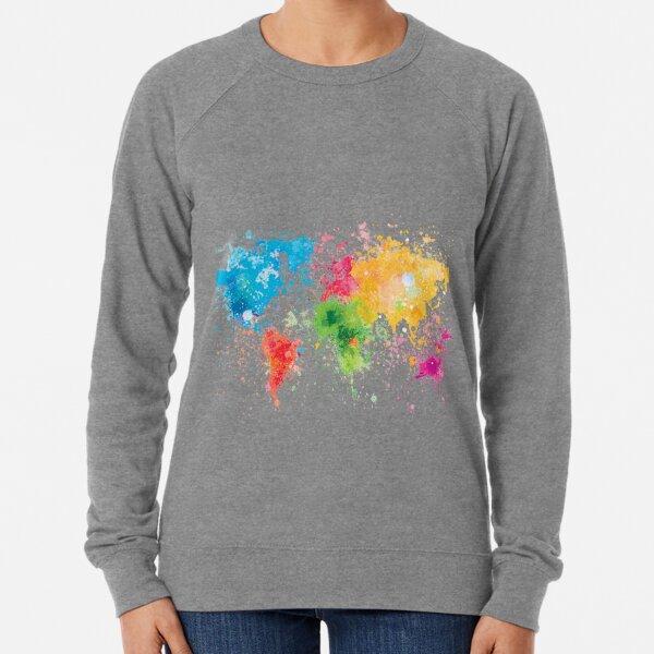 Weltkartenmalerei Leichter Pullover