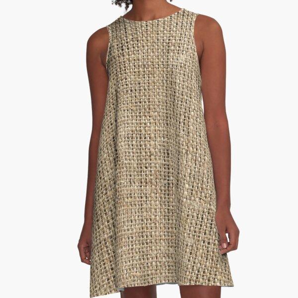 cool straw bag design (photography) A-Line Dress