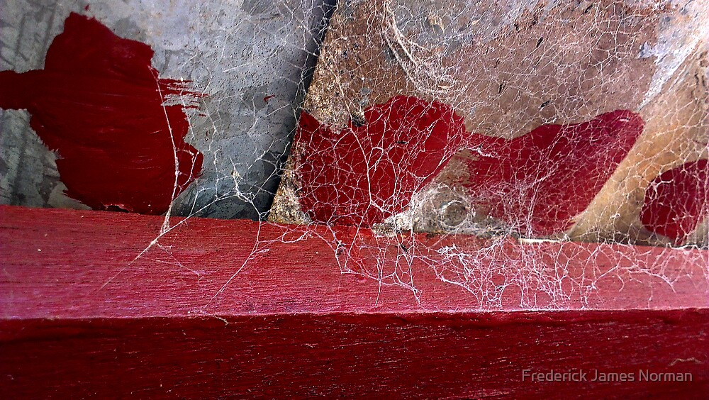 Red and Spider Webs by Frederick James Norman