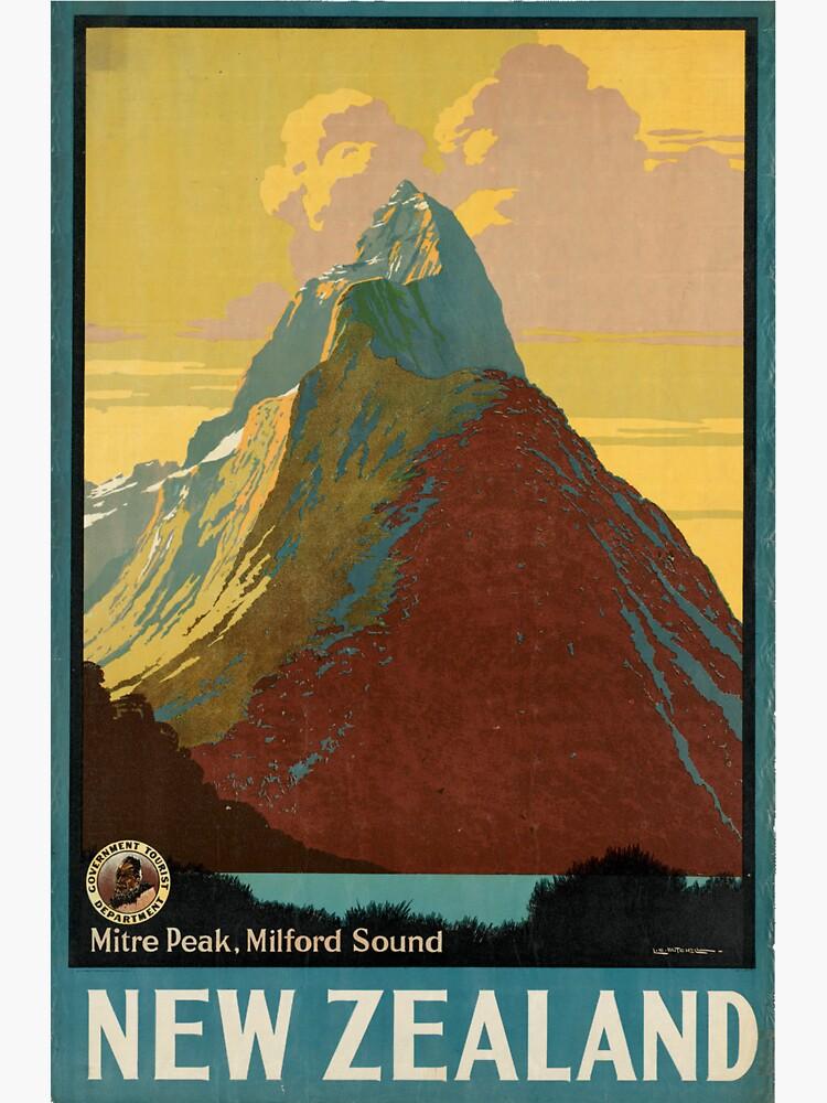 Cartel vintage - Nueva Zelanda de mosfunky