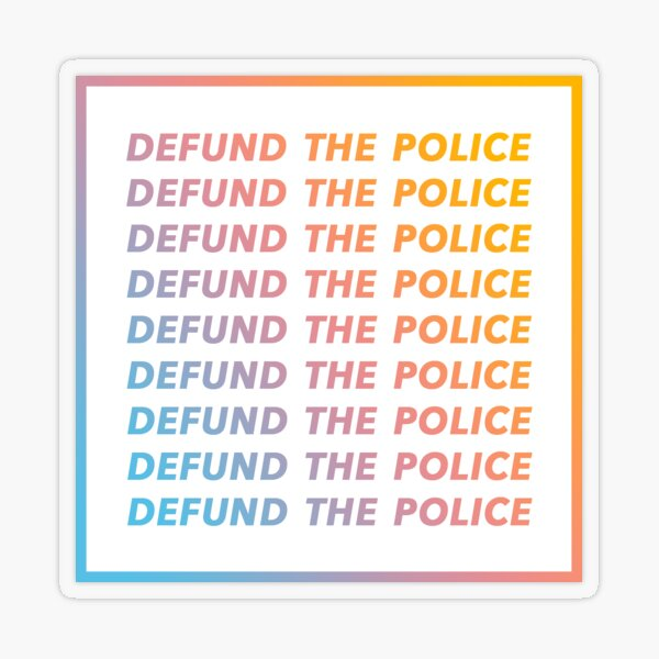Defund Police Transparent Sticker
