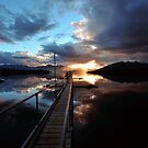 Te Anau Sunset. South Island, New Zealand. by Ralph de Zilva