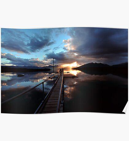Te Anau Sunset. South Island, New Zealand. Poster