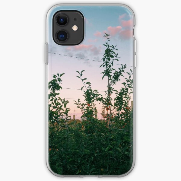 Apple Trees Pink Sky iPhone Soft Case