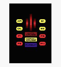 Knight Rider KITT Car Dashboard Graphic Photographic Print