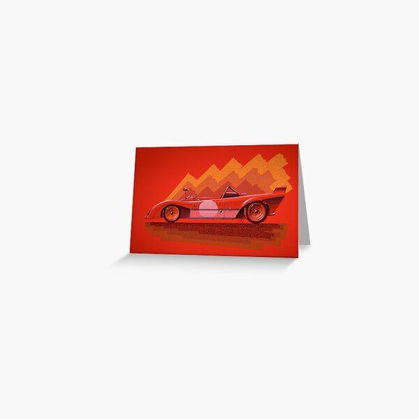 Ferrari 312P - Digital Painting Greeting Card
