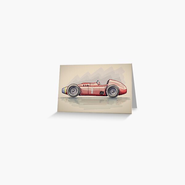 Lancia D50 - Digital Painting Greeting Card