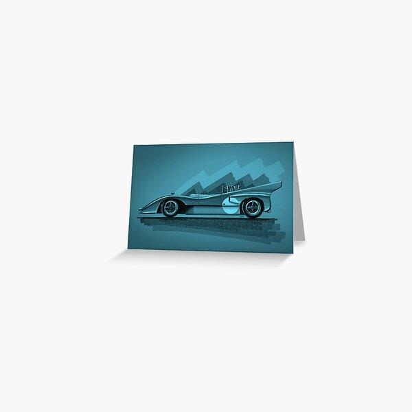 Mclaren M8D blue - Digital Painting Greeting Card