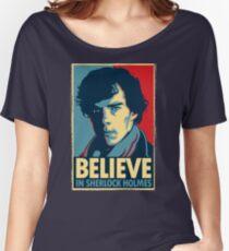 Believe in Sherlock Holmes Women's Relaxed Fit T-Shirt