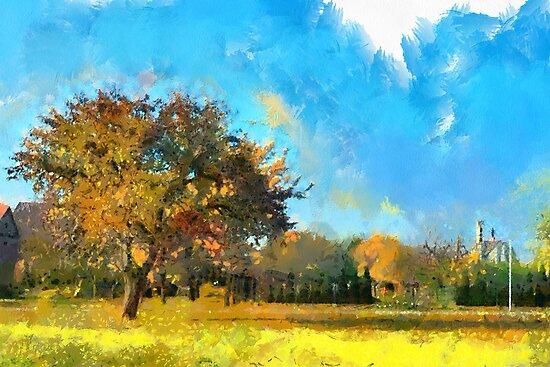 autumn in city by bogfl