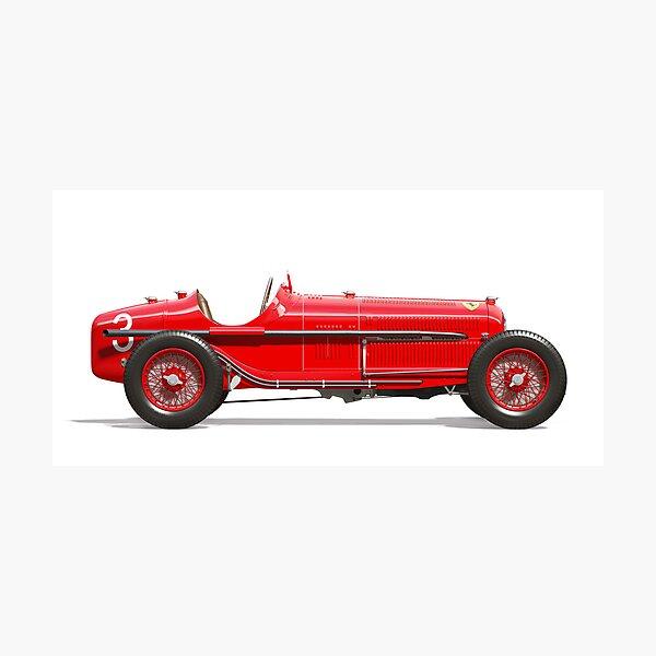 Alfa Romeo P3 - Side Profile Photographic Print