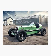 E.R.A. illustration - Brooklands Photographic Print