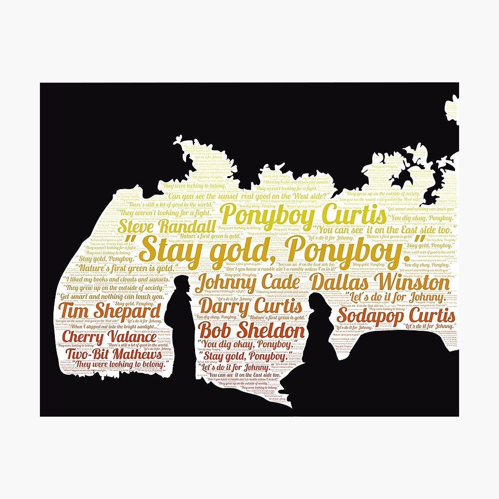 The Outsiders Stay Gold Ponyboy Word Cloud Poster By Mymymagic Redbubble Yarn is the best way to find video clips by quote. redbubble